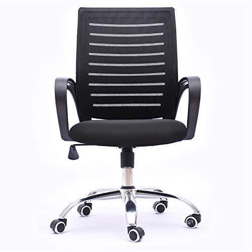 MEETA Bürostuhl, Bürostuhl, mit hoher Rückenlehne, drehbar, Chefsessel, höhenverstellbar, Schwarz Black Handrail