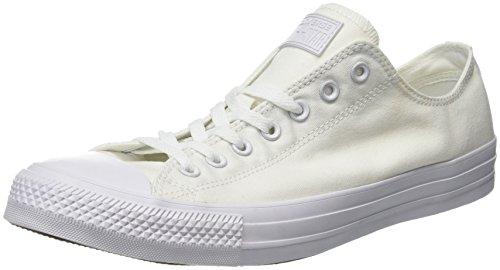 Converse Ctas Mono Ox 015490, Unisex - Erwachsene Sneaker, Weiß (33 BLANC MONO), 46.5 EU (Gehen Low-basketball-schuhe)