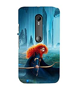 EPICCASE Girl with Bow and Arrow Mobile Back Case Cover For Moto X Play (Designer Case)