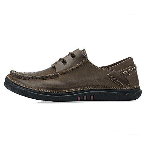 Herren Leder Schuhe Herren Braun Outdoor im Freien Schuhe der Erste Schicht der Haut - Kurzschaft Handgearbeitete Schuhe Braun