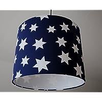 Lampenschirm Sterne(Blau-Weiß)