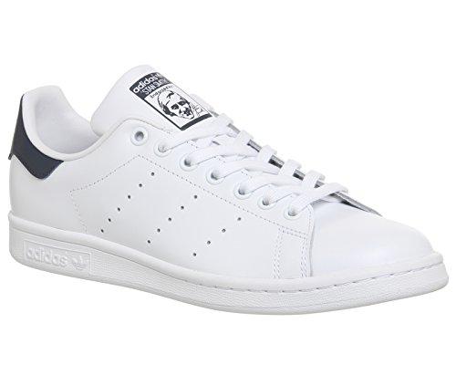 adidas Originals Stan Smith, Chaussons Sneaker Homme Blanc-bleu