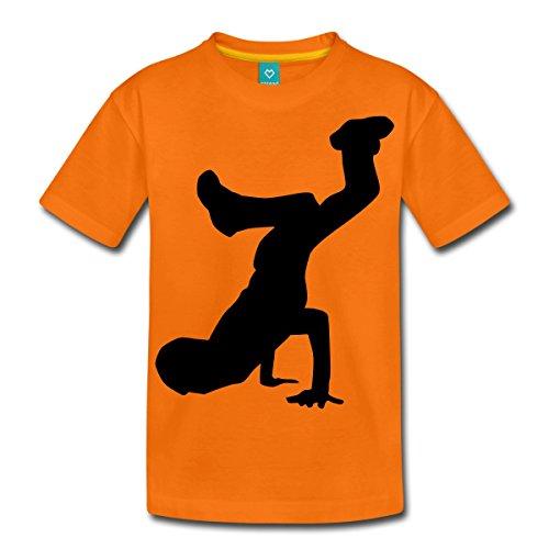 Breakdance T-shirt Premium Ado de Spreadshirt®, 146/152 (10 ans), orange