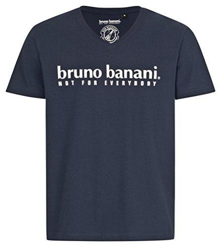 bruno banani Herren T-Shirt mit V-Ausschnitt in Marineblau, Größe XL