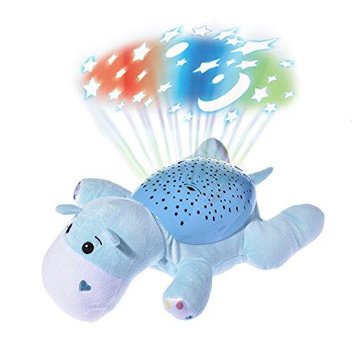 Pueri LED Sternenhimmel-Projektor Leucht Plüsch Spielzeug Nachtlicht Lampe Einschlafhilfe für Baby Kinder (B)