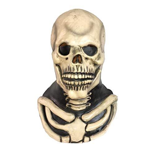 LYLLB-festival items Latex Bösewicht Schädel Maske Haube Halloween Party Kostüm Dekorative ()