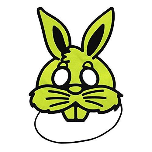 Gesichtsmaske Schild Schleier Wache Bildschirm Domino falsche Front Halloween verkleiden Sich Kinder Masken Make-up Prom Party Maske halbes Gesicht niedlichen Kaninchen Maske gelb grün,Yellow (Domino Maske Grüne)