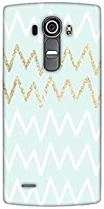 Snoogg Chevron Blue Designer Protective Back Case Cover For LG G4