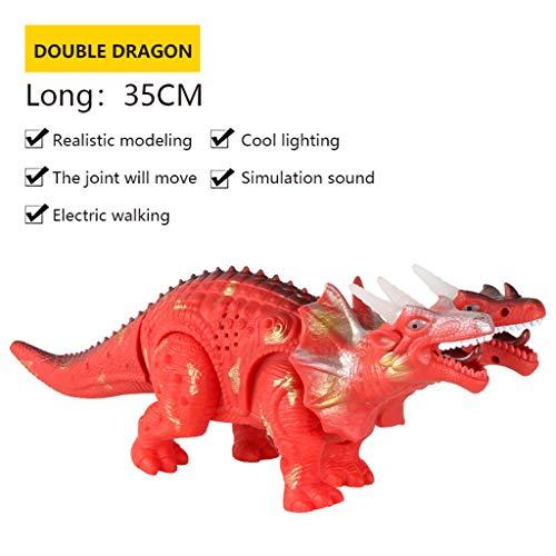 Plüsch Bildung Squishy Spielzeug aufblasbares Spielzeug im Freien Spielzeug,Kinder elektrischer Dinosaurier spielt Lumineszenzton-Simulations-Tierplastikspielzeug ()