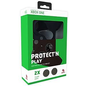 CAPCY XBOX ONE Controller Silikon Schutzhülle mit 2 XB1 Analogstick Thumb Grips (schwarz)