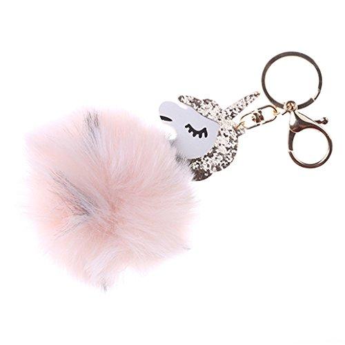 Chinget Niedlich Einhorn Plüsch Schlüsselanhänger Charme Anhänger für Schlüsselbund Kfz Handtaschen (Bunt 1)