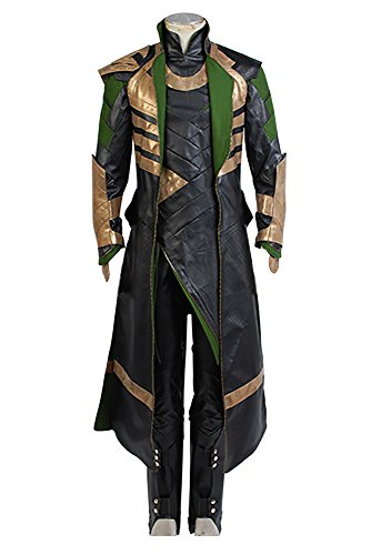 Thor The Dark World Loki outfit Set Cosplay Kostuem (Loki Kostüm Für Kinder)