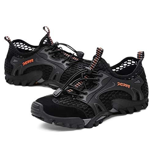 Fascino-M Herren Sommer Trekking Sandale Wanderschuhe Super Atmung Draussen Hiking Schuhe Mesh Vamp Wasserschuhe Sport Laufen Klettern