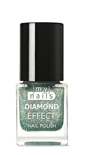 My Nails – Green Diamond Effect