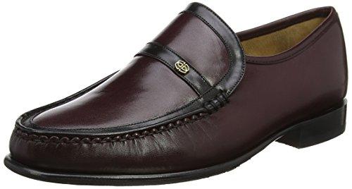 BARKER Men's Jefferson Loafers, Purple (Burgundy/Black Kid), 11 UK 45 EU