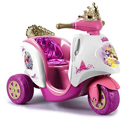 FEBER- 6V Princesas Scooty Disney Princess 6 V, Color Oro, Rosa, púrpura, 2+ (Famosa 800003096)