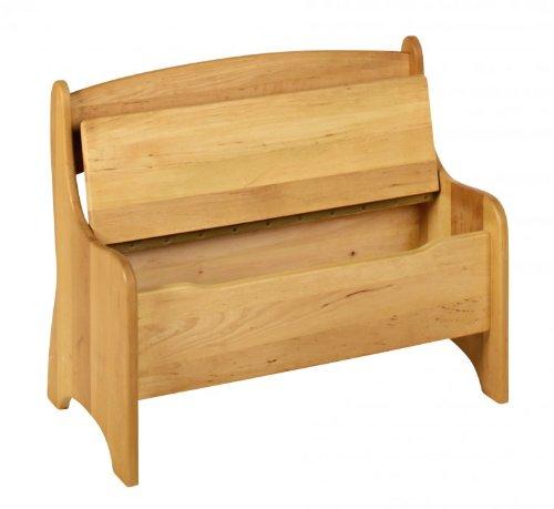Kindersitzbank mit Truhe 70x36x55 cm Massivholz Erle Levin