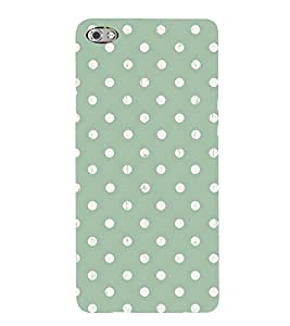 POLKA DOT WHITE AND GREEN PATTERN 3D Hard Polycarbonate Designer Back Case Cover for Micromax Canvas Sliver 5 Q450::Micromax Canvas Silver 5