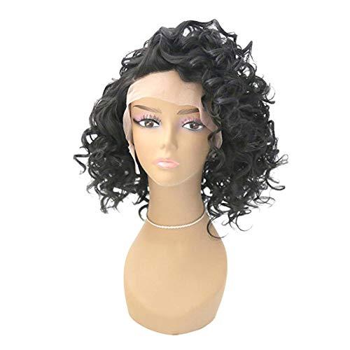 Perücke,Vordere Lace Half Hand Haken Perücke Damen Short Roller Headgear, 18