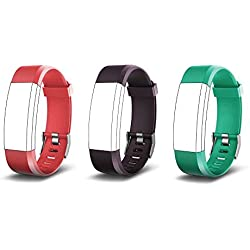 endubro Bracelet Rechange pour ID115 HR Plus (Violet + Rouge + Vert)
