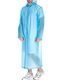 Beetest Adulto Unisex Mujer Hombre al Aire Libre Portable de la Capa  Impermeable Reutilizable de PVC 3b4439770500
