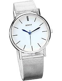 Tongshi Moda reloj de acero inoxidable de la Mujer Band cuarzo relojes de pulsera
