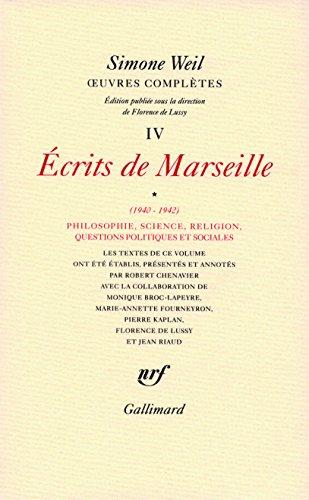 uvres compltes (Tome 4 Volume 1)-crits de Marseille (1940-1942))