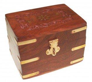 Boîte Huile Essentielles Aromathérapie - Coffret en bois de palissandre pour 6 huiles