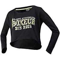 Boxeur Des Rues Serie Fight Activewear, Felpa Donna, Nero, M