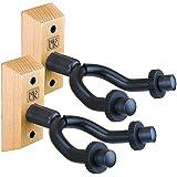 H & S 2x soporte de pared guitarra soporte percha gancho Keeper soportes de madera Base de madera para Bass guitarra acústica eléctrica