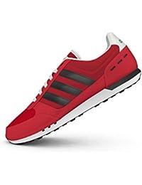 Adidas Neo City Racer, Zapatillas para Hombre, Rojo (Escarl/Negbas/Ftwbla), 46 EU