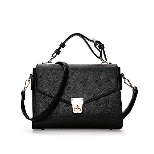Tisdaini Handtaschen Handtaschen einfache Farbe einzigen Schulter kleinen quadratischen Tasche Schloss Messenger Bag Mode Damen Handtasche