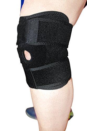 Genouillère pour soulager la douleur au genou. Genouillère sport pour prévenir les blessures. Attelle de genou en néoprène réglable pour éviter les entorses et les rechutes, en stabilisant le genou. Unisexe taille unique. Matériau de...