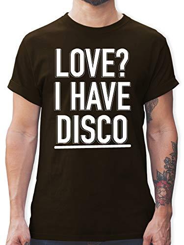 Festival - Love? I Have Disco - S - Braun - L190 - Herren T-Shirt und Männer Tshirt