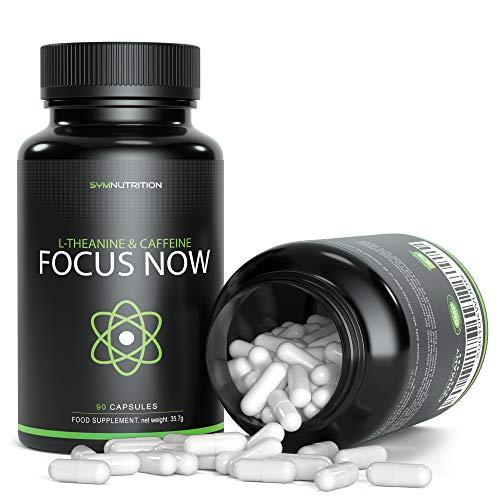 Koffein 100 mg, L-Theanin 200 mg - 90 pflanzliche Kapseln   Bessere Konzentrationsfähigkeit, Aufmerksamkeit, Stimmung & Wachsamkeit