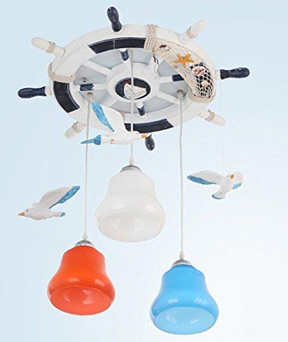 Kinderzimmer Kronleuchter Mittelmeer Rudder Seagull Schlafzimmer Kronleuchter Jungen und Mädchen Kreative LED-Augen Temperatur Einfache Xin Licht - 2