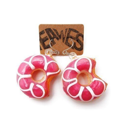 - 2 Stück - Ohrstecker Kitsch Party Sweet Doughnut Sugar Ohrring (Niedliche Halloween-kostüme Für 2)