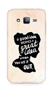 AMEZ a good idea becomes a great idea when you let it out Back Cover For Samsung Galaxy J2