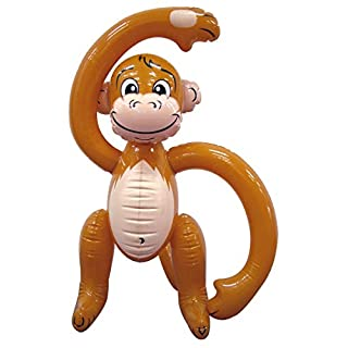 MunchieMoosKids 07487 Inflatable Monkey 24 inch Brown
