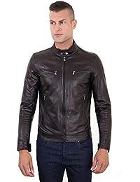 D'Arienzo - HAMILTON • colore nero • giacca in pelle nera quattro tasche