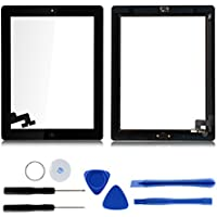 For iPad 2 A1395 A1396 A1397 Touch Screen Digitizer Glass With Home Button Black