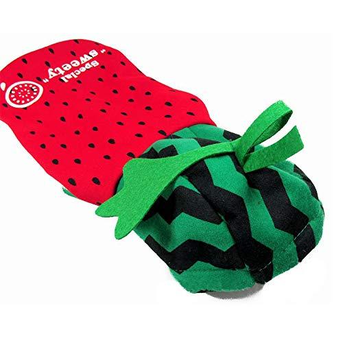 XGPT Katzen Hund Kostüm Jumpsuit Hund Kleidung Rosa Gelbe Wassermelone Ananas Design Baumwoll-Kostüm Für Haustiere Männer Frauen Niedlichen Urlaub Cosplay Halloween,Watermelon,M (Ananas Kostüm Frauen)