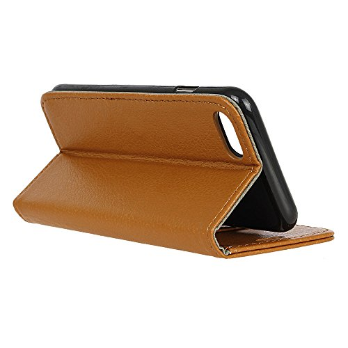 MOONCASE iPhone 7 Plus Bookstyle Étui Housse en Cuir Case Support à rabat Coque de protection Portefeuille TPU Case pour iPhone 7 Plus Léopard Brun