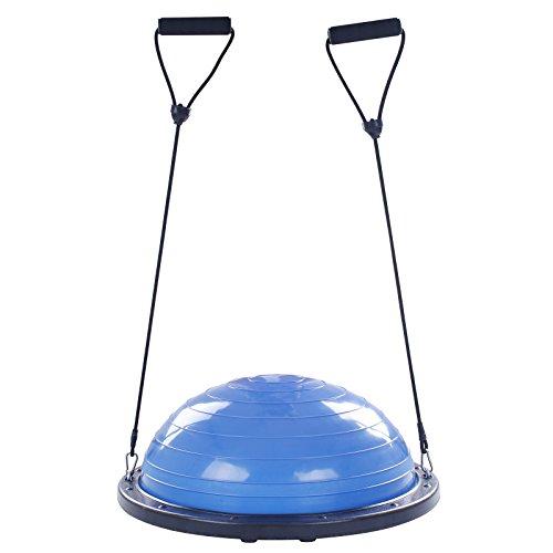 VEVOR Balance Trainer Ball 23 Inch Yoga Balance Trainer Avec CâBles De RéSistance Demi-Ballon D'Exercices Bleu Planche D'éQuilibre