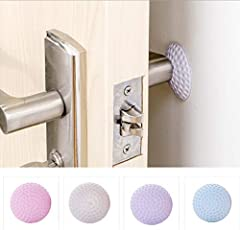 HOME CUBE® Self Adhesive Silicone Door Handle Protector, Door Protector Guard Silencer Guard (Pack of 10 Pcs)