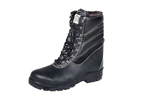 Arbeitsschuhe, Halb-Hohe Winterstiefel/ Sicherheits-Stiefel / Arbeits-Stiefel, warm gefüttert und gepolstert, für Herren und Damen, Größe 36-49, Sicherheit: S3 (44)