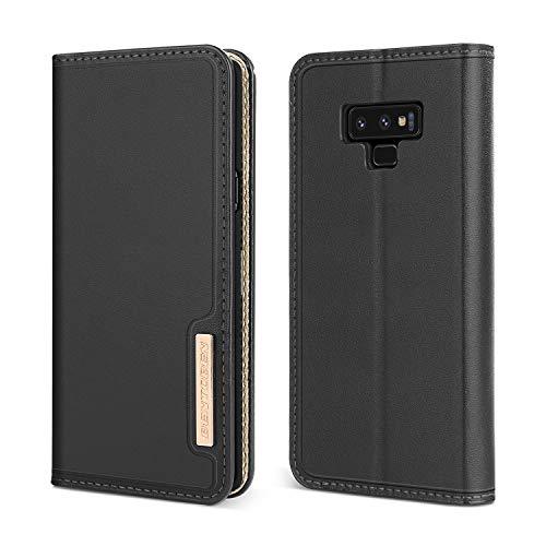 BENTOBEN Galaxy Note 9 Hülle, Handyhülle Samsung Note 9 Ledertasche Handytasche mit kartenfach Flip Case Schutzhülle für Samsung Galaxy Note 9 Schwarz