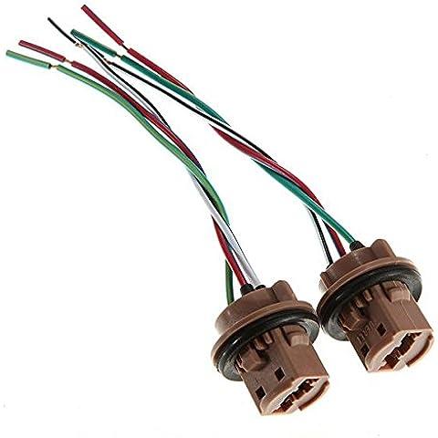 Una bombilla LED Par 7443 luz de freno Socket arnés Tapones de alambre