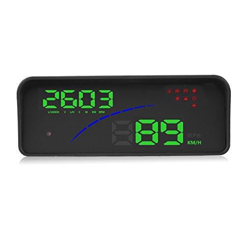 """P9 Auto HUD Head UP Display OBD2 3.6"""" Kraftstoffverbrauch Geschwindigkeit Alarm Tachometer"""