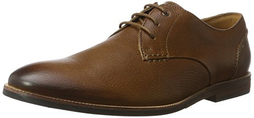 Clarks Broyd Walk, Derby Homme Marron (Tan Leather)